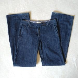 LOFT Dark Wash Blue Jean Straight Leg Pants 0L